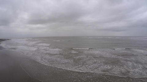 Aerial view of ocean in Wales Live Action