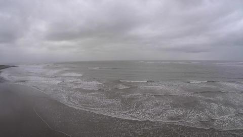 Aerial view of ocean in Wales Footage