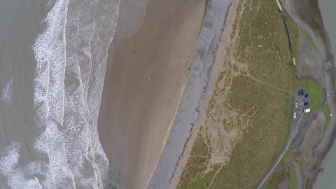 Aerial overview of waves Footage
