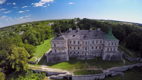 Aerial view of an old castle Live Action