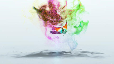 Smoky Butterfly Logo After Effects Template