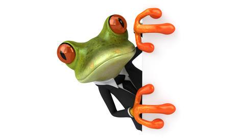 Fun business frog Animation