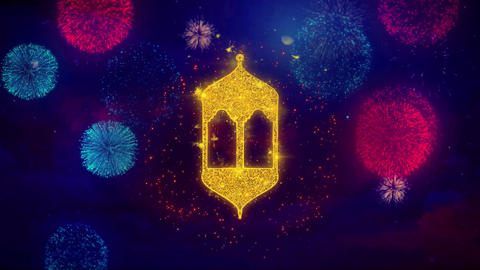 Islamic, islam, religious, Monument, Monuments Icon Symbol on Colorful Fireworks Live Action