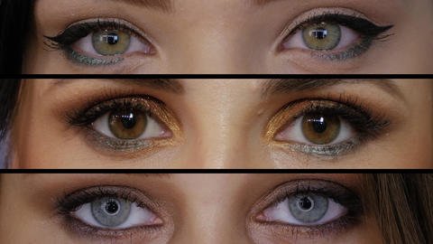Collage of different eyes Live Action