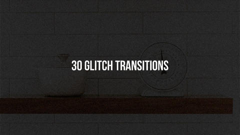 Adobe Premiere Pro Glitch templates, motion graphics templates