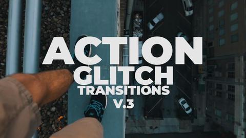 Action Glitch Transitions V 3 Premiere Proテンプレート