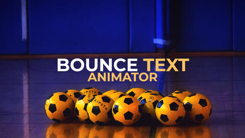 Bounce Text Animator Premiere Pro Template