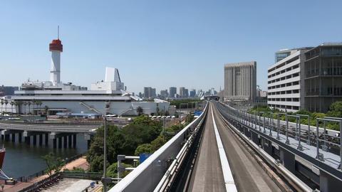 Japan city traffic. Tokyo waterfront city view ライブ動画