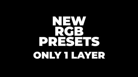 New RGB Presets Premiere Pro Template
