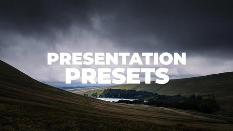 Presentation Presets Premiere Proテンプレート