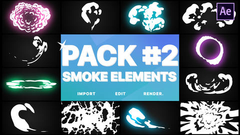 Smoke Elements Pack 02 After Effects Template