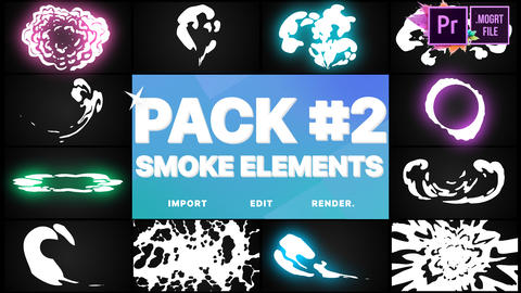Smoke Elements Pack 02 Motion Graphics Template