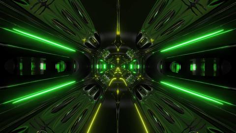 futuristic alien ship sci-fi space tunnel 3d illustration background wallpaper Animation