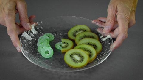 Healthy Kiwi with Unhealthy Candy Live Action