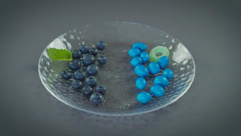 Healthy Blueberries With Unhealthy Candy Live Action