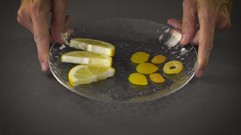 Healthy Lemon Slices with Unhealthy Candy Live Action