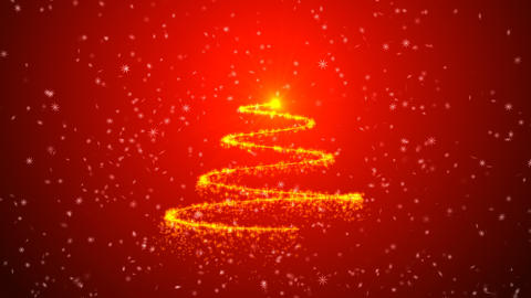 Christmas tree animation background CG動画