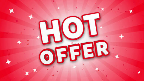 Hot Offer 3D Text on Falling Confetti Background Live Action
