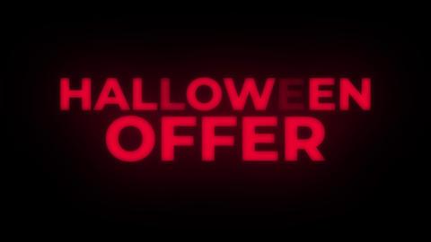 Halloween Offer Text Flickering Display Promotional Loop Footage