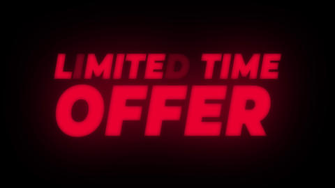 Limited Time Offer Text Flickering Display Promotional Loop Live Action