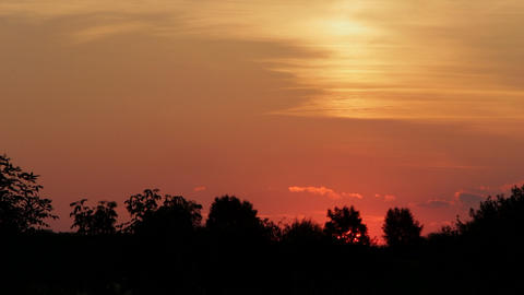 Summer sunset Footage