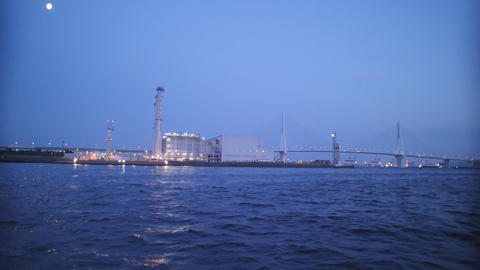 Night scene of Factories in Kawasaki recorded on June 18, 2016 Footage