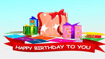Present Box Birthday After Effects Template