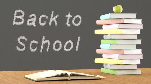 Back to school written on blackboard Footage