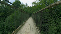 Suspension bridge ride forward Footage