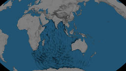 Tsunami waves propagation - Sumatra-Andaman 2004. Bumps Animation