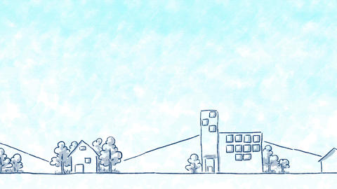 SHA Blue City BackGround CG動画