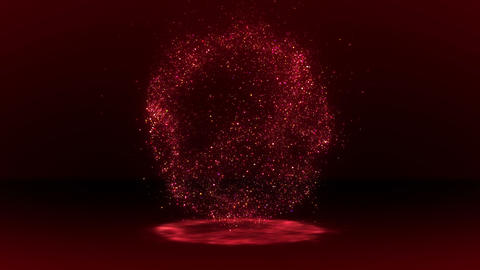 SHA Red Particle Circle Effects Animation