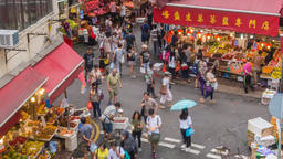 4K People Crowd Time Lapse at Vegetable Market Footage