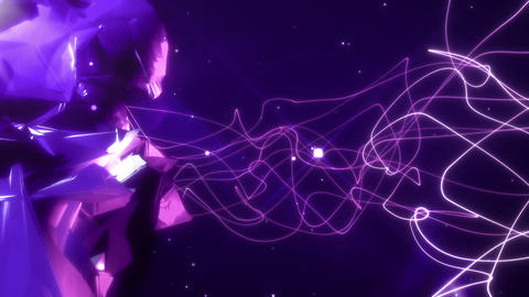 SHA Rotation Rock BG Image Vioret, Stock Animation
