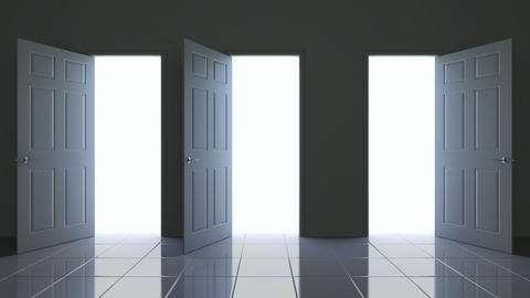 Doors opening 3D animation Animation