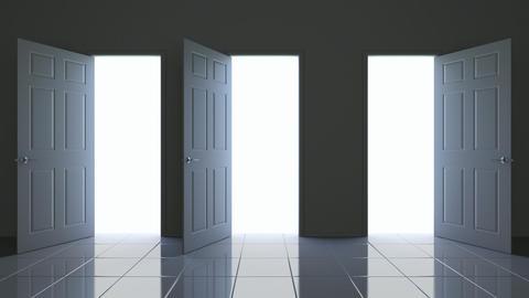 Doors opening 3D animation Animation