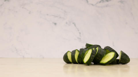 Stop motion animation of cutting cucumber Animation
