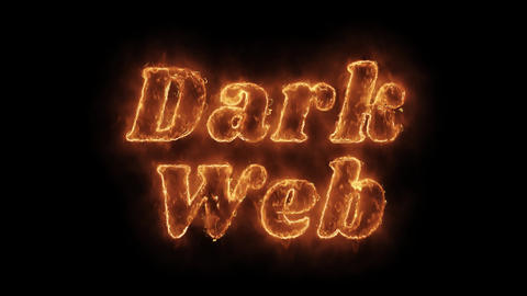 Dark Web Word Hot Animated Burning Realistic Fire Flame Loop Live Action
