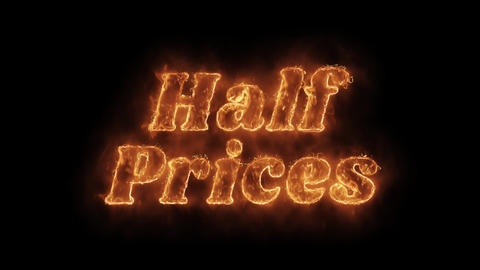 Half Prices Word Hot Animated Burning Realistic Fire Flame Loop Live Action