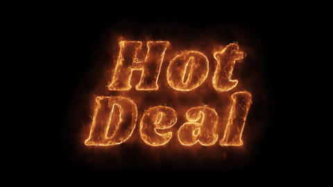 Hot Deal Word Hot Animated Burning Realistic Fire Flame Loop Footage