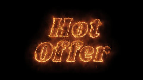 Hot Offer Word Hot Animated Burning Realistic Fire Flame Loop Live Action
