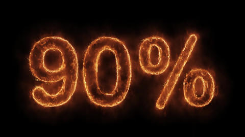 90%Percent Off Word Hot Animated Burning Realistic Fire Flame Loop Live Action