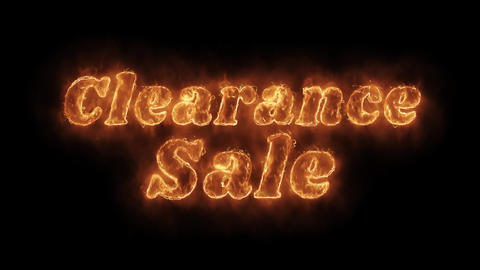 Clearance Sale Word Hot Animated Burning Realistic Fire Flame Loop Live Action