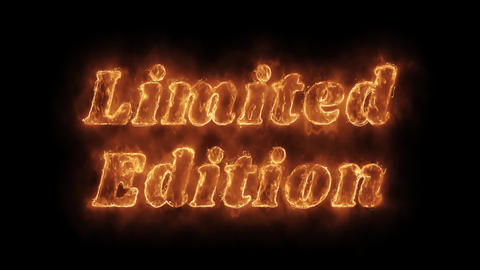 Limited Edition Word Hot Animated Burning Realistic Fire Flame Loop Live Action