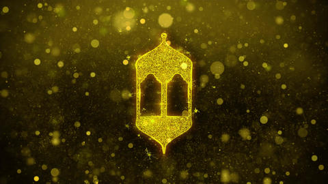 Islamic, islam, religious, Monument, Monuments Icon Golden Glitter Shine Live Action