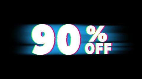 90 % Percent Off Text Vintage Glitch Effect Promotion Live Action