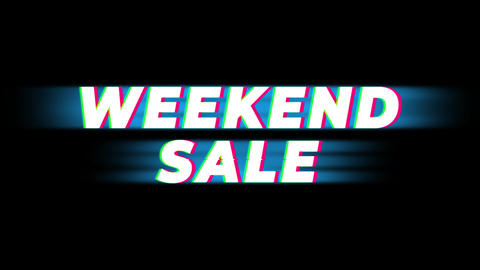 Weekend Sale Text Vintage Glitch Effect Promotion Live Action