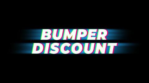 Bumper Discount Text Vintage Glitch Effect Promotion Live Action