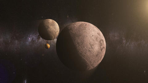 travel between planets in space Animation