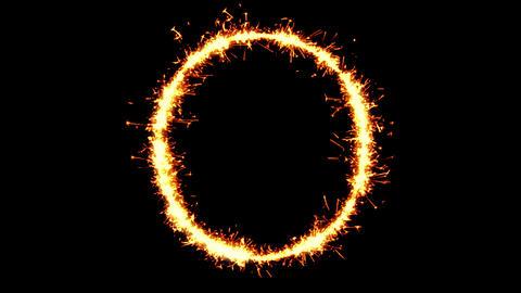 Alphabet O Text Sparkler Glitter Sparks Firework Loop Animation Live Action